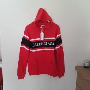 sweatshirt hoodie balenciaga red